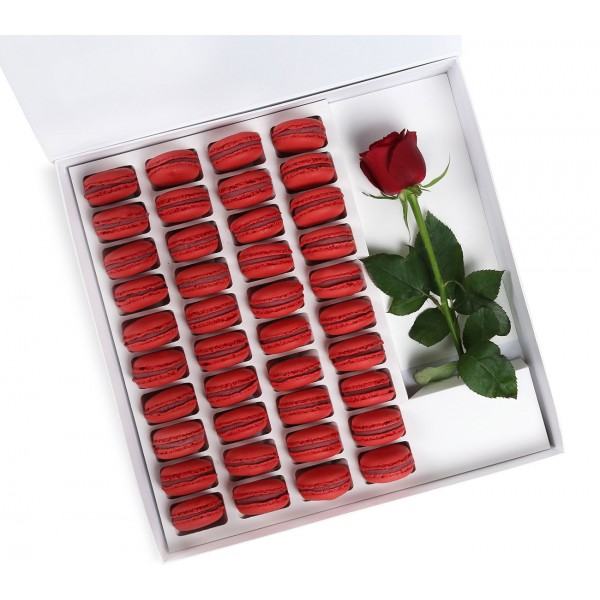 Amore Square Rose Red